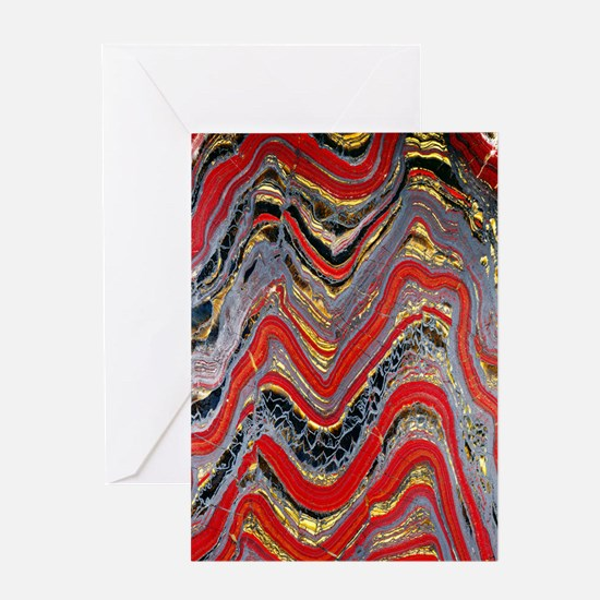 Banded iron formation Greeting Card