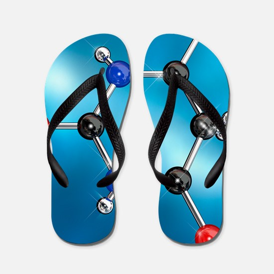 Barbituric acid molecule, artwork Flip Flops