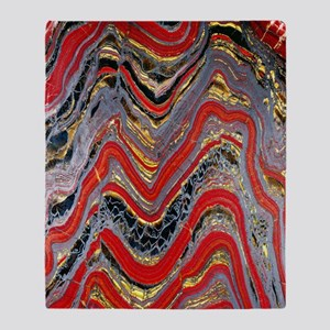 Banded iron formation Throw Blanket