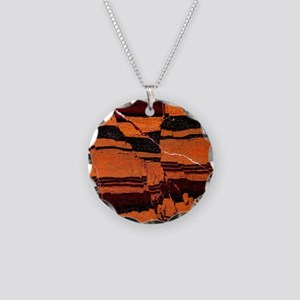Banded iron formation Necklace Circle Charm