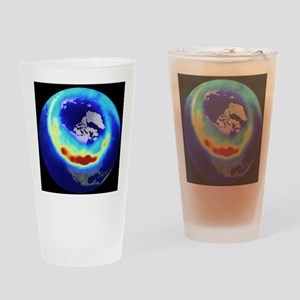 Aurora from space Drinking Glass