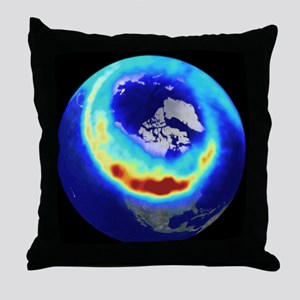 Aurora from space Throw Pillow