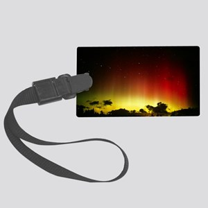 Aurora borealis or northern ligh Large Luggage Tag