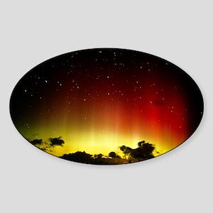 Aurora borealis or northern lights  Sticker (Oval)