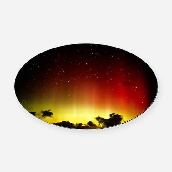 Aurora borealis or northern lights Oval Car Magnet