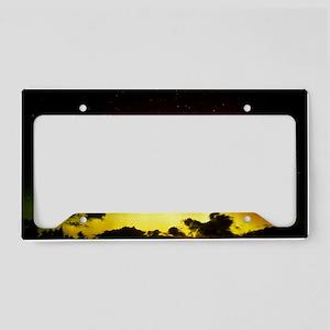 Aurora borealis or northern l License Plate Holder