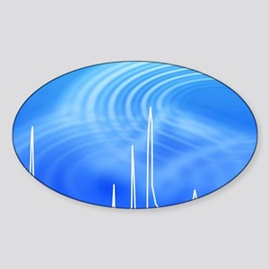 Chromatogram, 2D View Sticker (Oval)