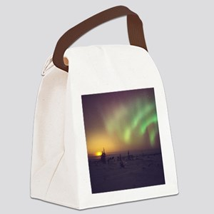 Aurora borealis display with sett Canvas Lunch Bag