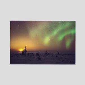 Aurora borealis display with sett Rectangle Magnet