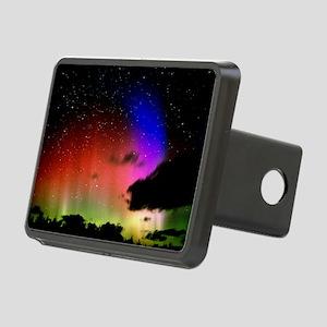 Aurora Borealis display wi Rectangular Hitch Cover