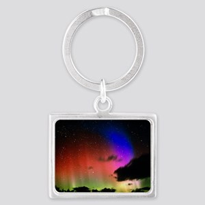 Aurora Borealis display with cl Landscape Keychain