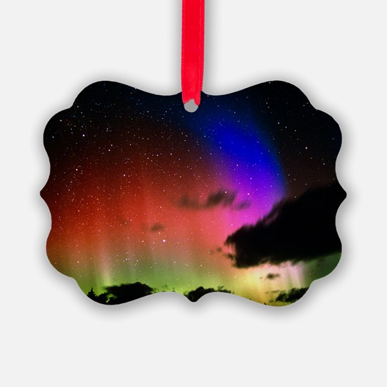 Aurora Borealis display with clou Ornament