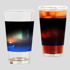 Aurora Borealis display over Manito Drinking Glass