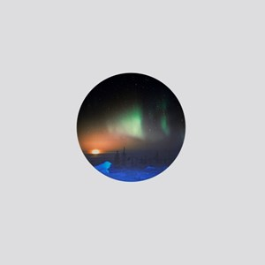 Aurora Borealis display over Manitoba, Mini Button