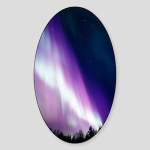 Aurora borealis Sticker (Oval)
