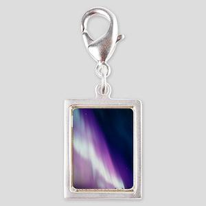 Aurora borealis Silver Portrait Charm