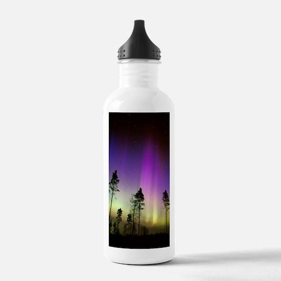 Aurora borealis Water Bottle