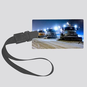 Clearing snow from a road Large Luggage Tag