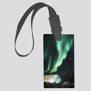 Aurora borealis Large Luggage Tag