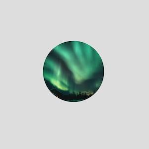 Aurora borealis Mini Button