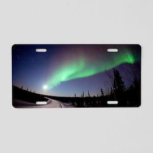 Aurora borealis in Alaska Aluminum License Plate