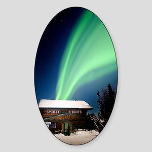Aurora borealis in Alaska Sticker (Oval)