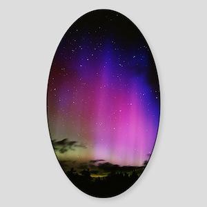 Aurora borealis, Finland Sticker (Oval)