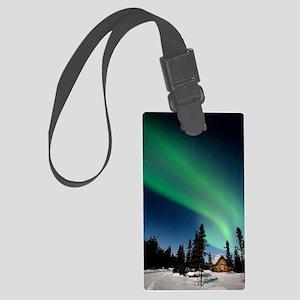 Aurora borealis in Alaska Large Luggage Tag