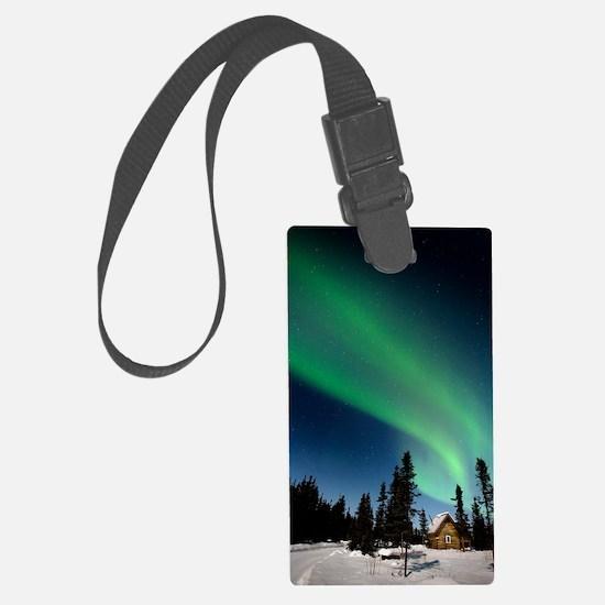 Aurora borealis in Alaska Luggage Tag