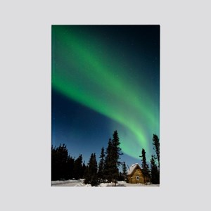 Aurora borealis in Alaska Rectangle Magnet