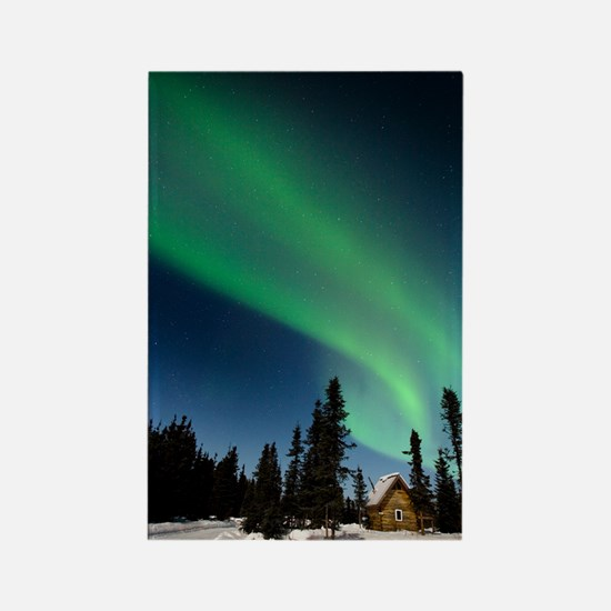Aurora borealis in Alaska Rectangle Magnet