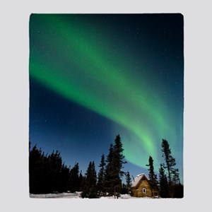 Aurora borealis in Alaska Throw Blanket