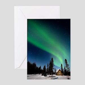 Aurora borealis in Alaska Greeting Card