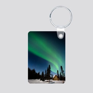 Aurora borealis in Alaska Aluminum Photo Keychain