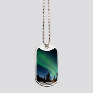 Aurora borealis in Alaska Dog Tags
