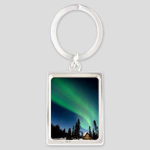 Aurora borealis in Alaska Portrait Keychain