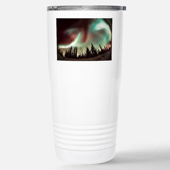 Aurora borealis Stainless Steel Travel Mug