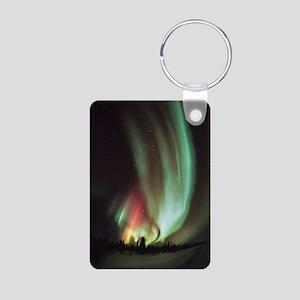 Aurora borealis Aluminum Photo Keychain