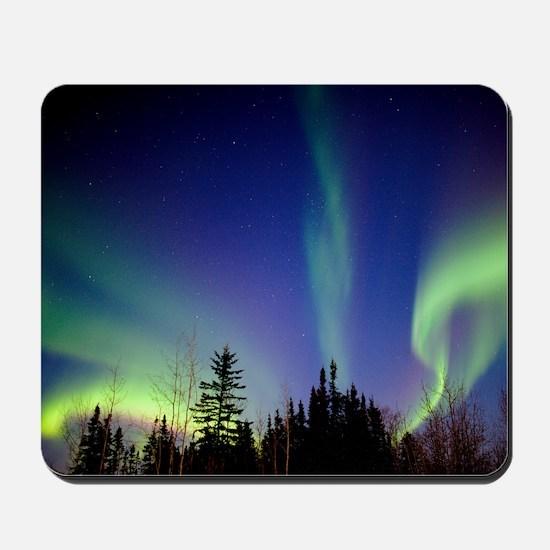 Aurora borealis in Alaska Mousepad