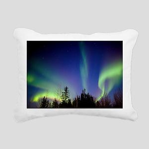 Aurora borealis in Alask Rectangular Canvas Pillow