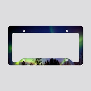 Aurora borealis in Alaska License Plate Holder