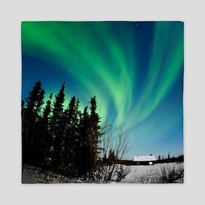 Aurora borealis in Alaska Queen Duvet