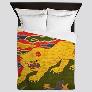 Chinese Tibetan Silk tapestry tiger Queen Duvet