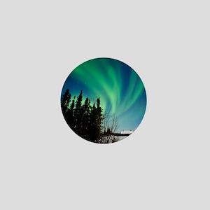 Aurora borealis in Alaska Mini Button