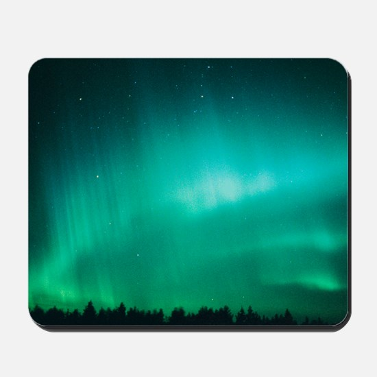 Aurora Borealis (Northern Lights) seen i Mousepad