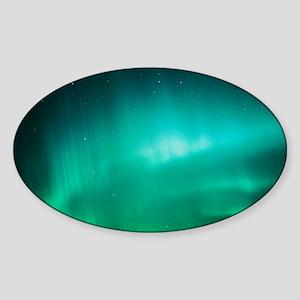 Aurora Borealis (Northern Lights) s Sticker (Oval)