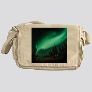 Aurora borealis Messenger Bag
