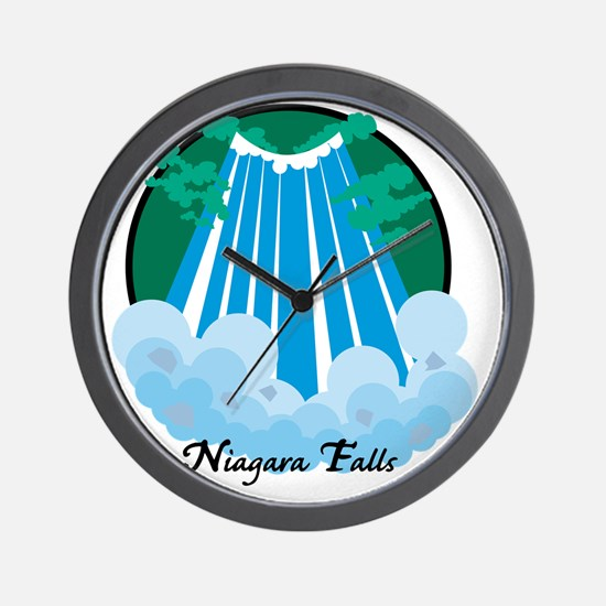 NiagardaFalls1Wh Wall Clock