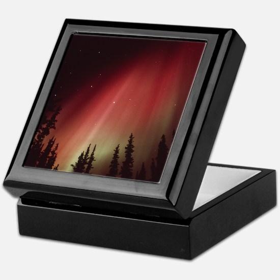 Aurora borealis Keepsake Box