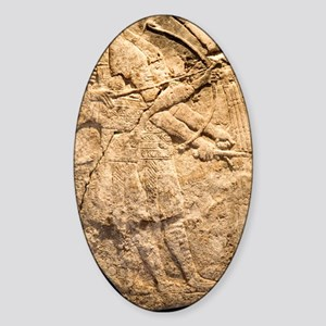 Assyrian archers, 7th century BC ca Sticker (Oval)